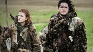 Jon Snow with Ygritte, Game Of THrones season 3 got